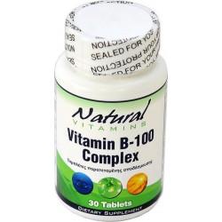 Natural Vitamins Vitamin B 100 Complex 30 ταμπλέτες