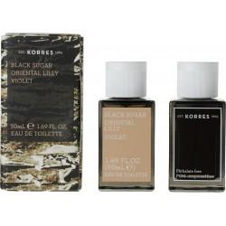 Korres Black Sugar, Oriental Lily, Violet Eau de Toilette 50ml