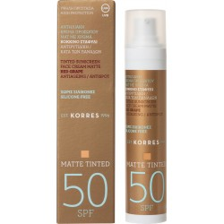 Korres Sunscreen Tinted Face Cream Matte Red Grape Antispot SPF50 50ml
