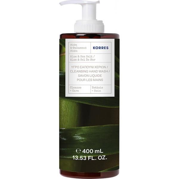 Korres Cleansing Hand Wash Aloe & Sea Salt Pump 400ml
