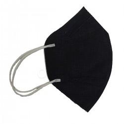 JIJI HUANG MASK Disposable Folding Mask Μάσκα Προστασίας KN95 Μαύρη 1 Χρήσης 1τμχ