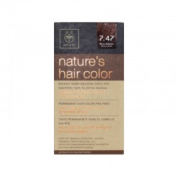 Apivita Nature's Hair Color 7.47 Μπεζ Χάλκινο
