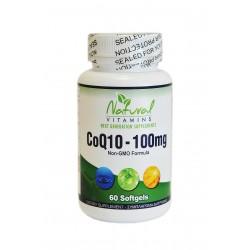Natural Vitamins CoQ10 100mg 60 μαλακές κάψουλες