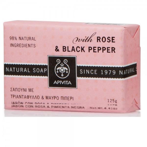 Apivita Σαπούνι Αδυνατίσματος με τριαντάφυλλο και μαύρο πιπέρι