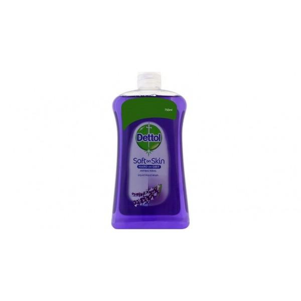 Dettol Lavender Soft On Skin Hard On Dirt Refill Liquid Hand Wash 750ml